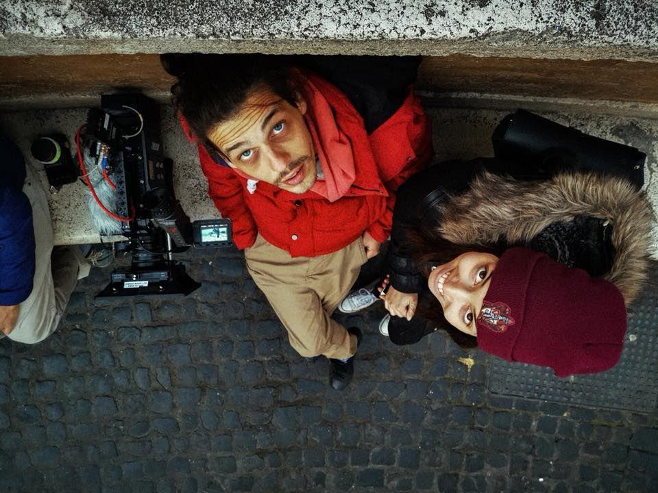 """Андреа Попова и приятелят ѝ Дамян Димитров в Рим по време на снимките на филма """"Заедно без теб"""""""