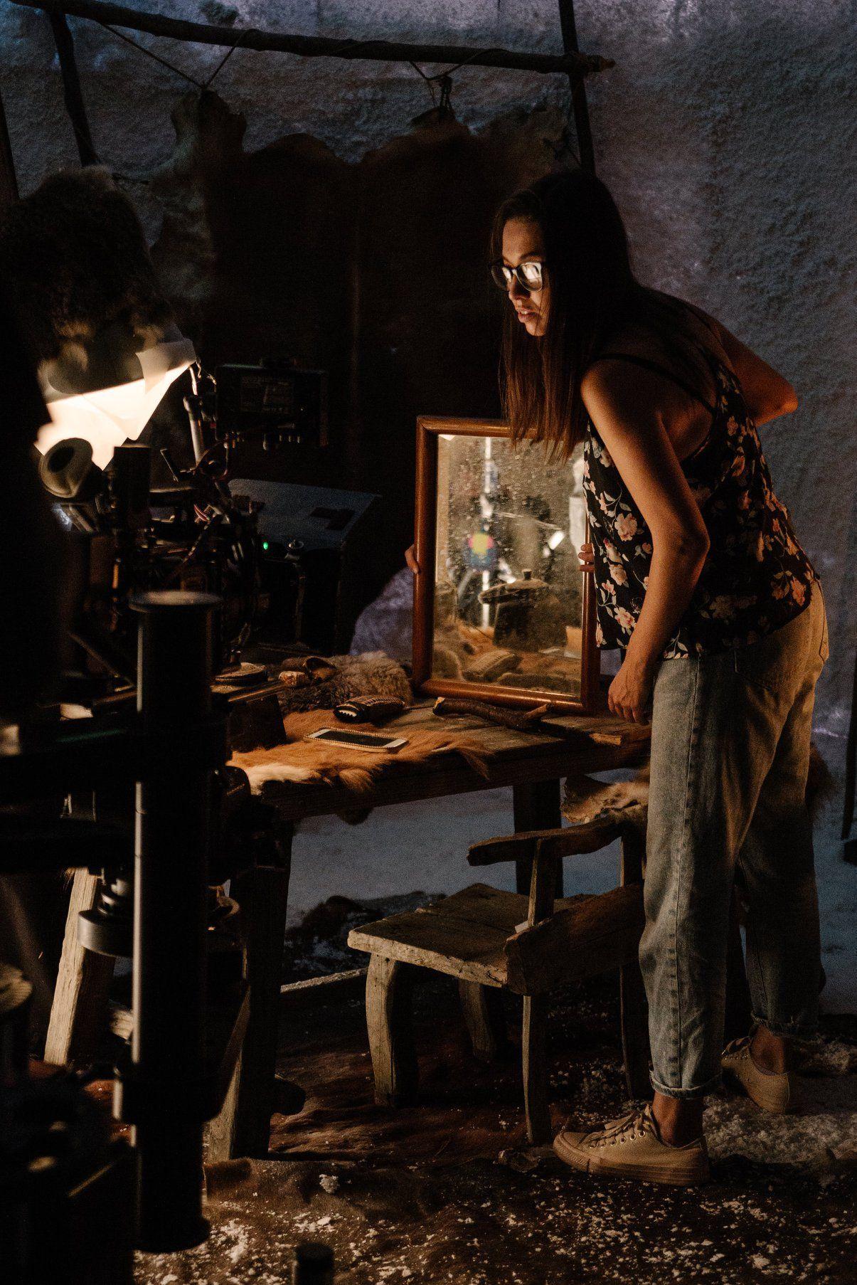 Мейкинг на реклама с иглута Снимка: Златина Точкова