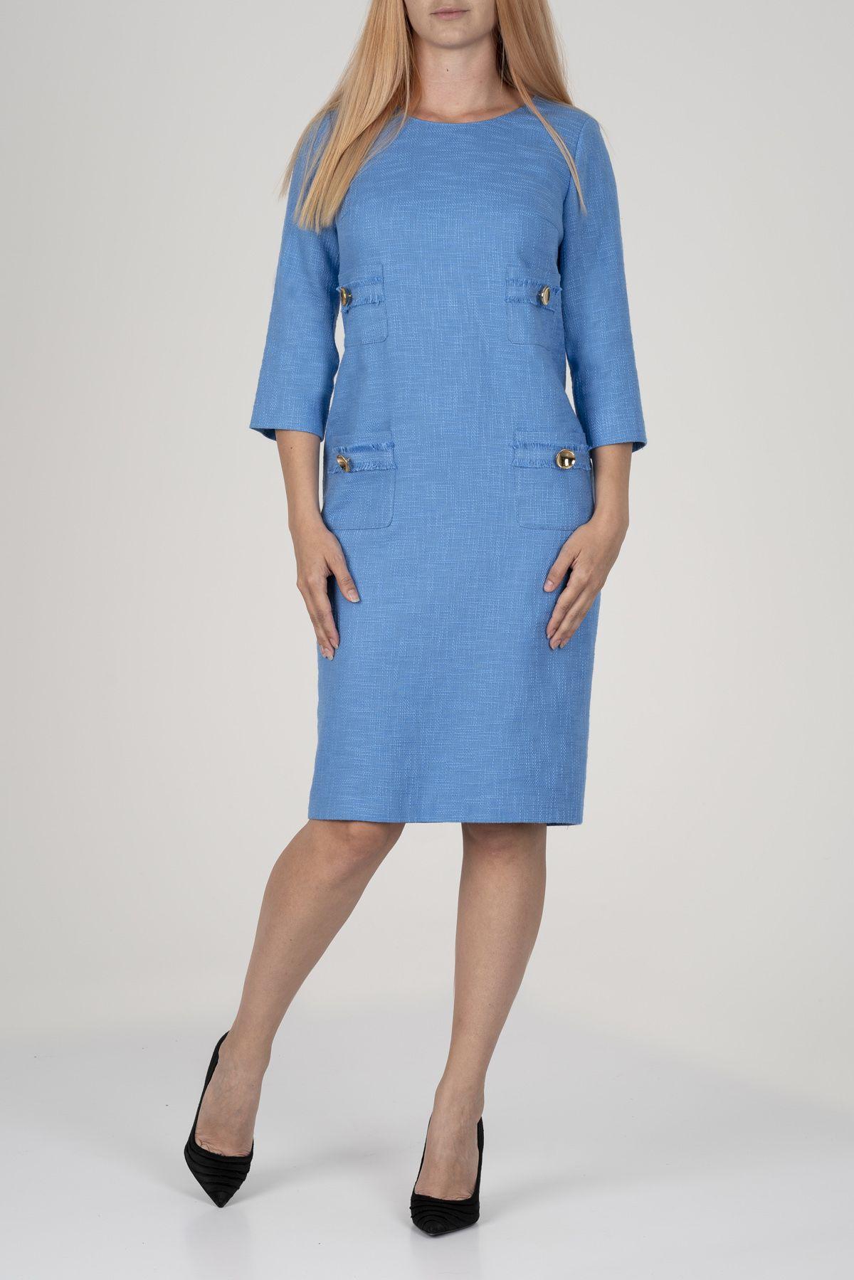Синя рокля букле от Mellini