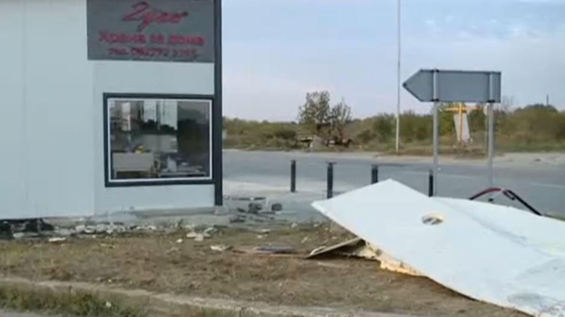 Освободиха шофьора без книжка, който се заби в заведение и рани собственика