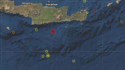 Силно земетресение край остров Крит