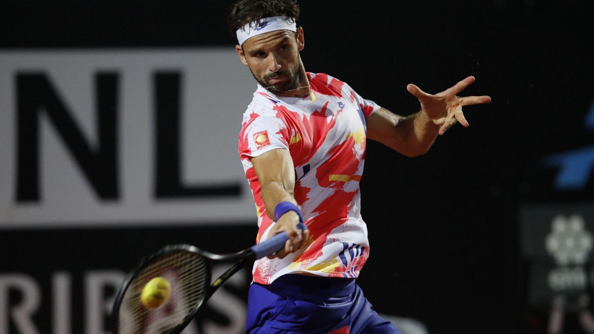 Григор не намери играта си и отпадна на четвъртфинал в Рим