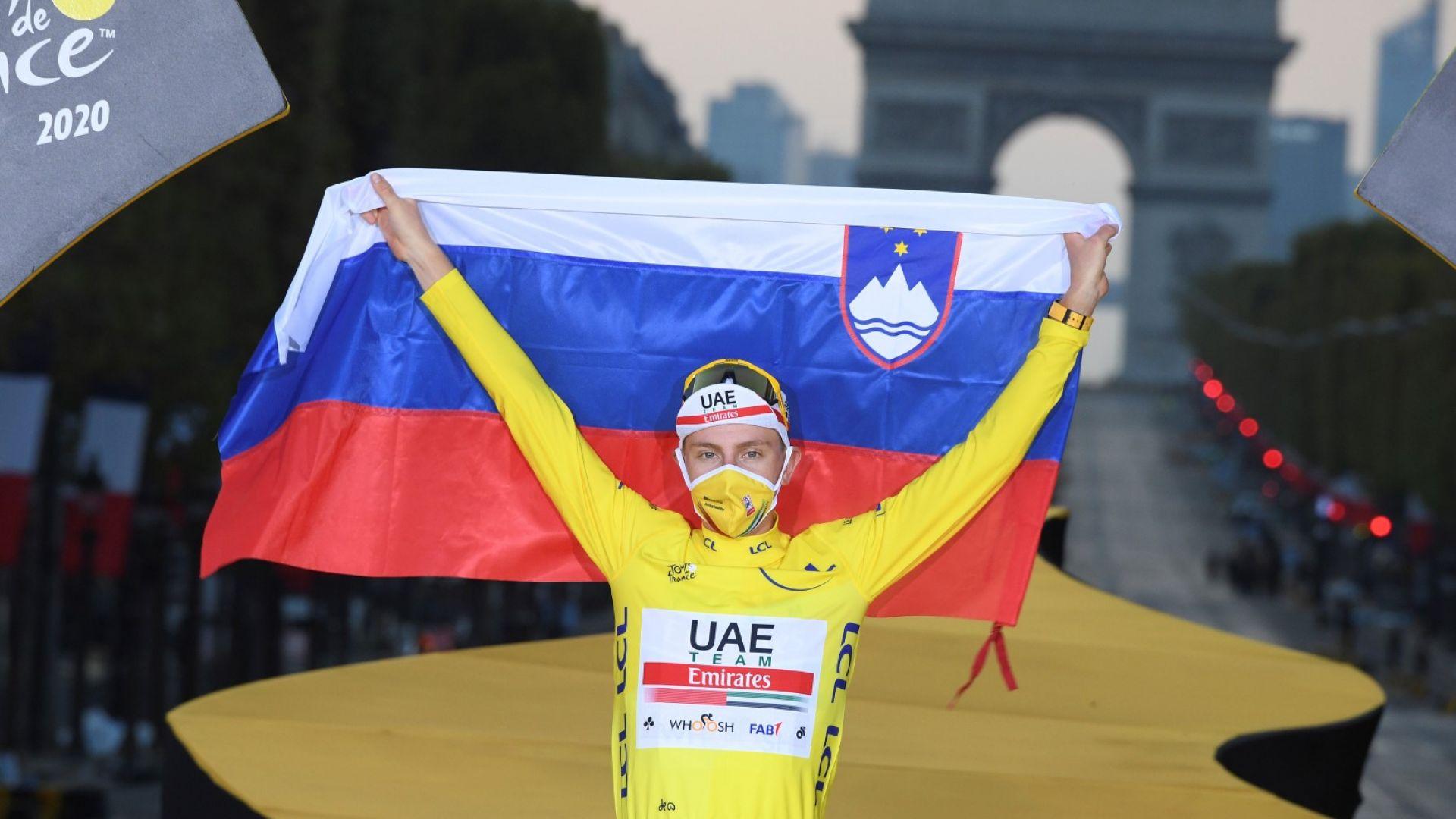 """Куриоз: Сензационният шампион от """"Тур дьо Франс"""" не е в топ 3 за годината в Словения"""