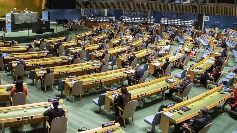 Председателят на Общото събрание на ООН, турчинът Волкан Бозкър, прекъсна