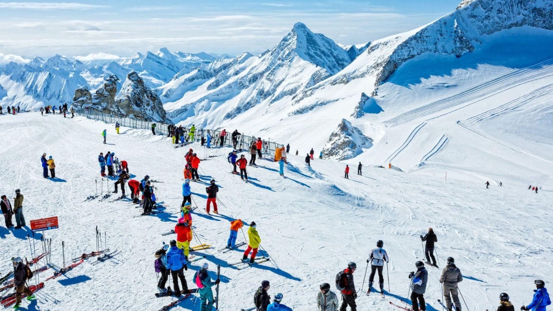 Ски курортът Хинтертукс в провинция Тирол, Австрия