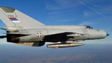 Последният сръбски МиГ-21 UM се разби на границата с Босна и Херцеговина (видео)