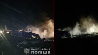 Самолет с курсанти се разби в Украйна (видео)