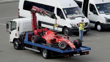 """""""Ужасна квалификация"""" и """"Ферари"""" на боклука, но Хамилтън тръгва първи в Сочи"""