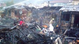 Пожар остави без дом 7 семейства в Разлог