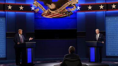 """Първи ТВ дебат между Тръмп и Бъйдън: От """"пудела на Путин"""" до """"суперхищник"""" (снимки, видео)"""