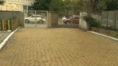 Автентични жълти павета в двора на столична детска ясла