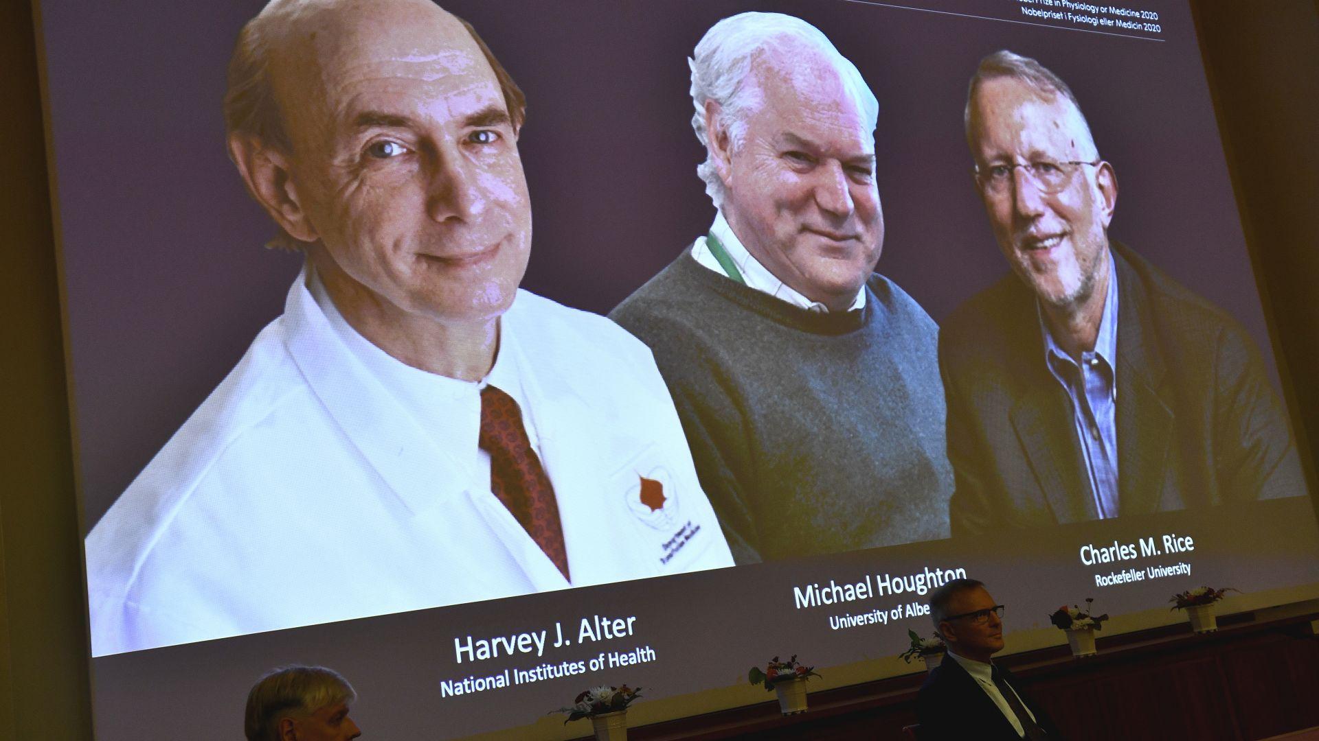 Откривателите на Хепатит С спечелиха Нобеловата награда за медицина