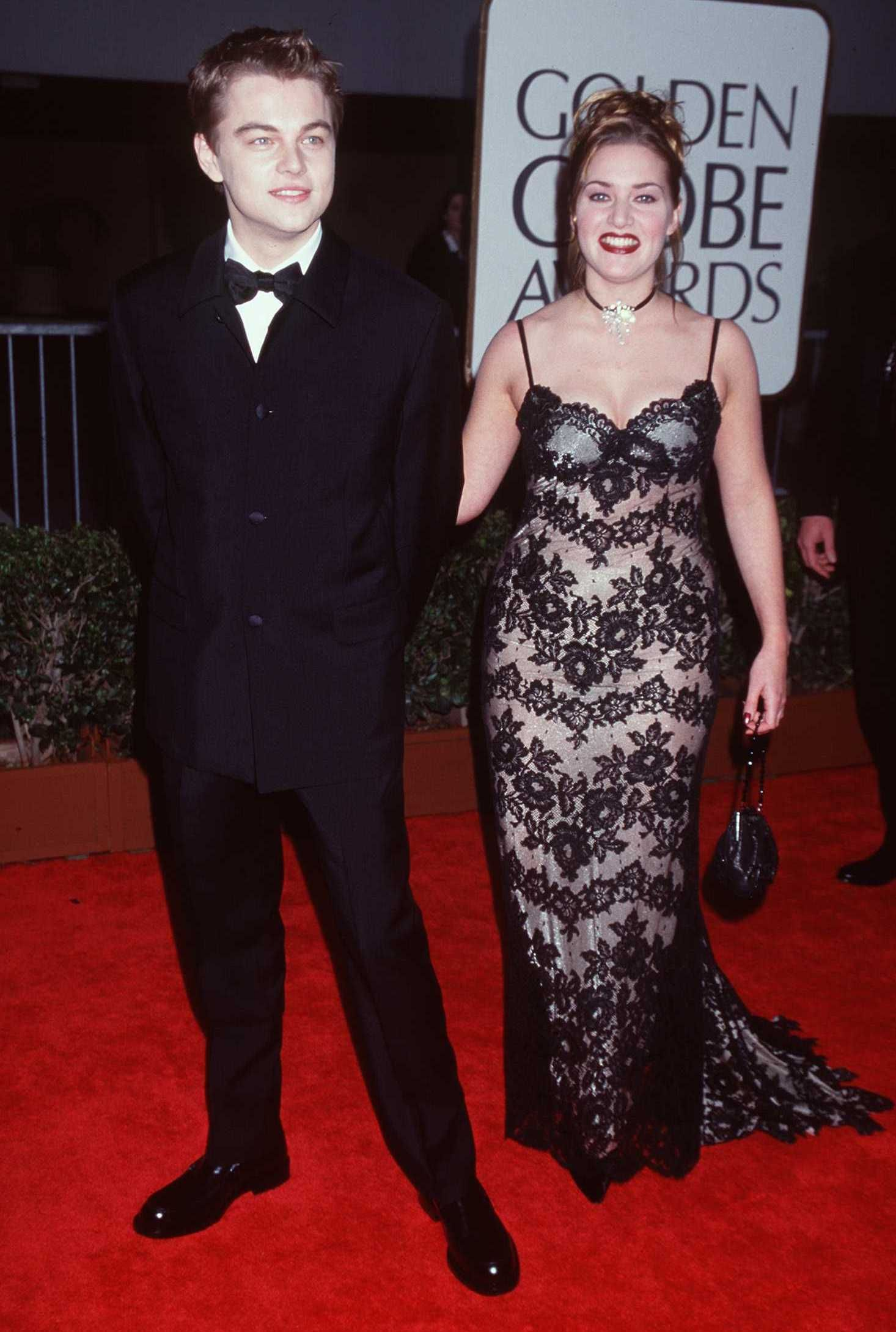 "Кейт Уинслет и Леонардо ди Каприо на наградите ""Златен Глобус"" 1998 г."