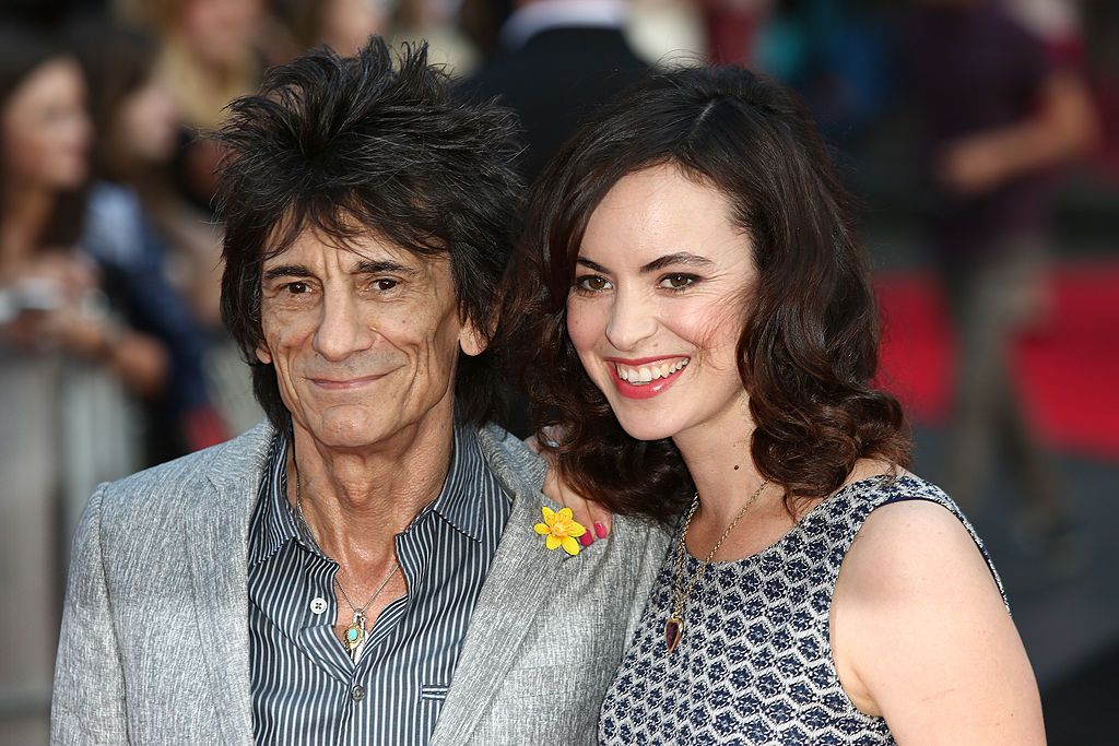 Рони Ууд със съпругата си Сали Хъмфрис