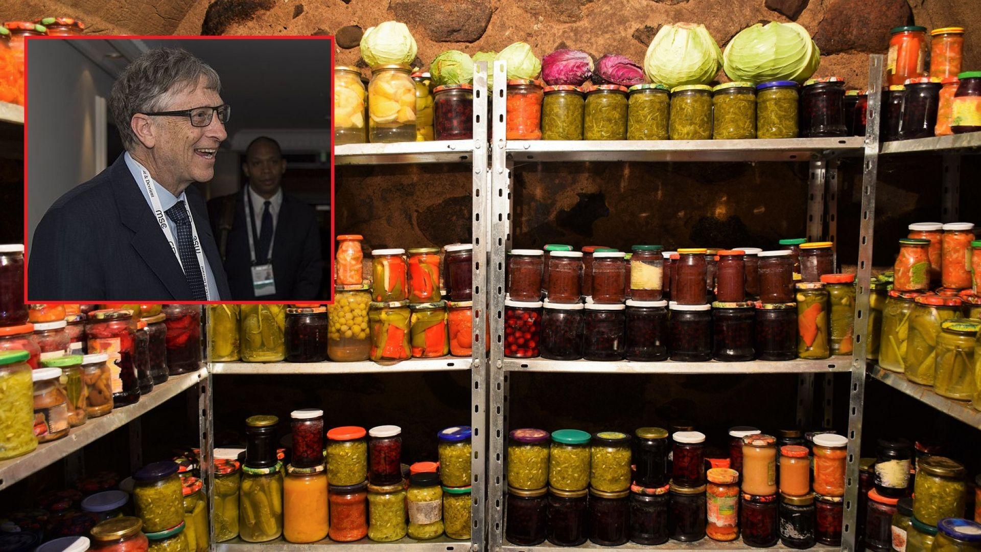 Бил Гейтс складирал храна в мазето в очакване на пандемия
