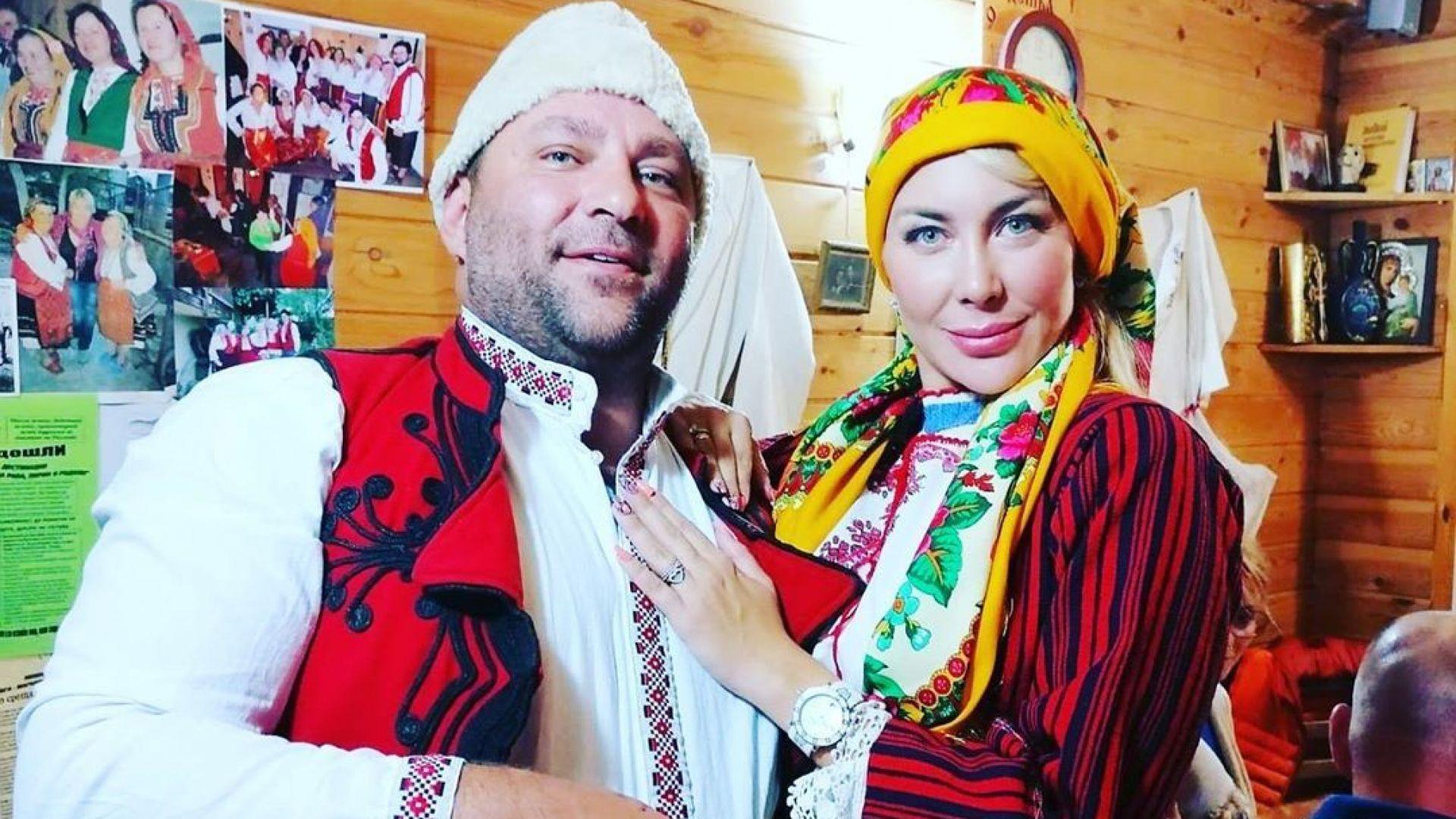 Антония Петрова и съпругът ѝ кумуват по автентичен български обичай