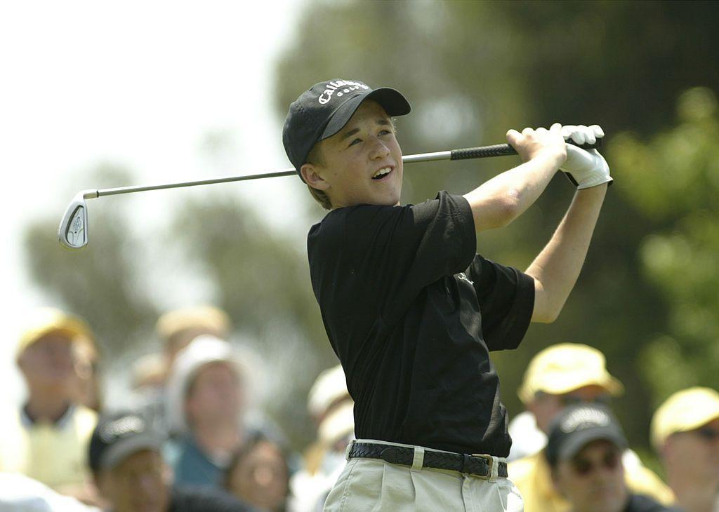 От малък Хейли е запален по голфа