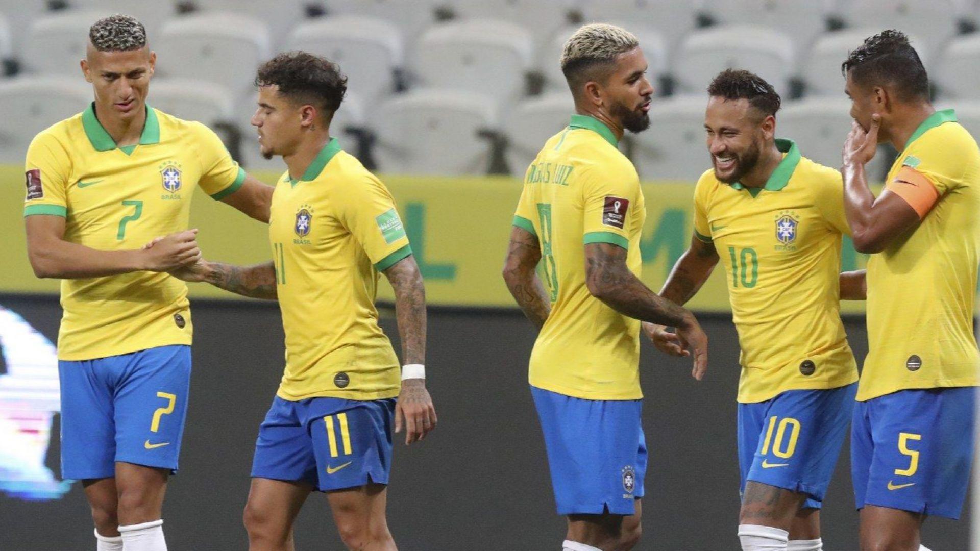 Бразилия се развихри на старта на световните квалификации