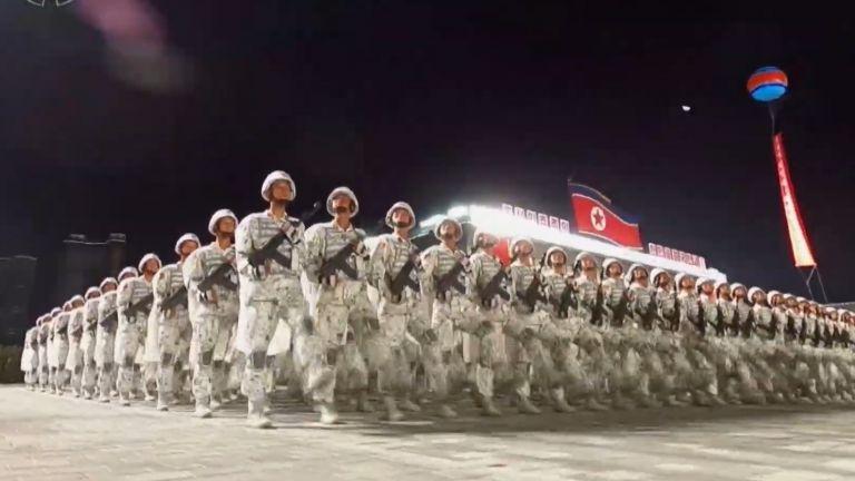 Зимната маскировка на войниците на Северна Корея