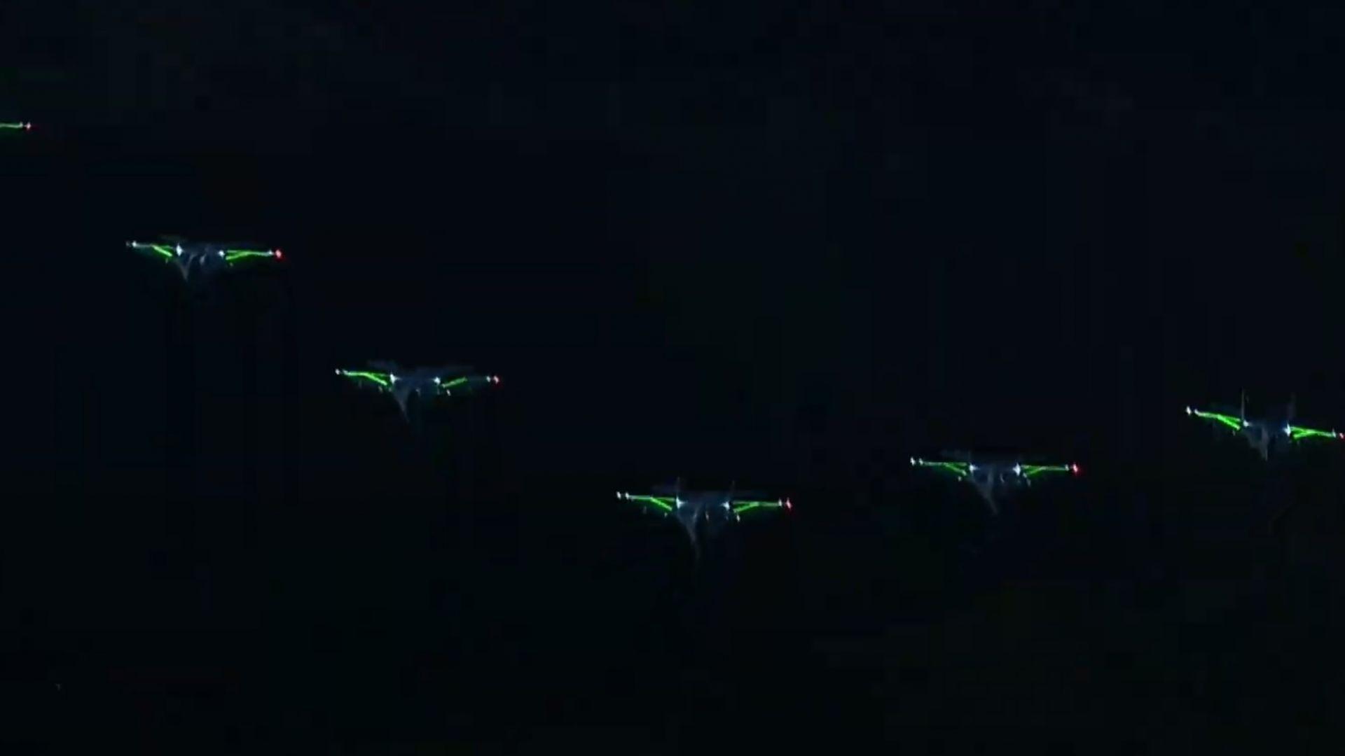 МиГ-29 с LED светлини