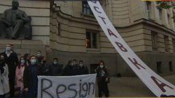 Студенти на протест пред Софийския университет