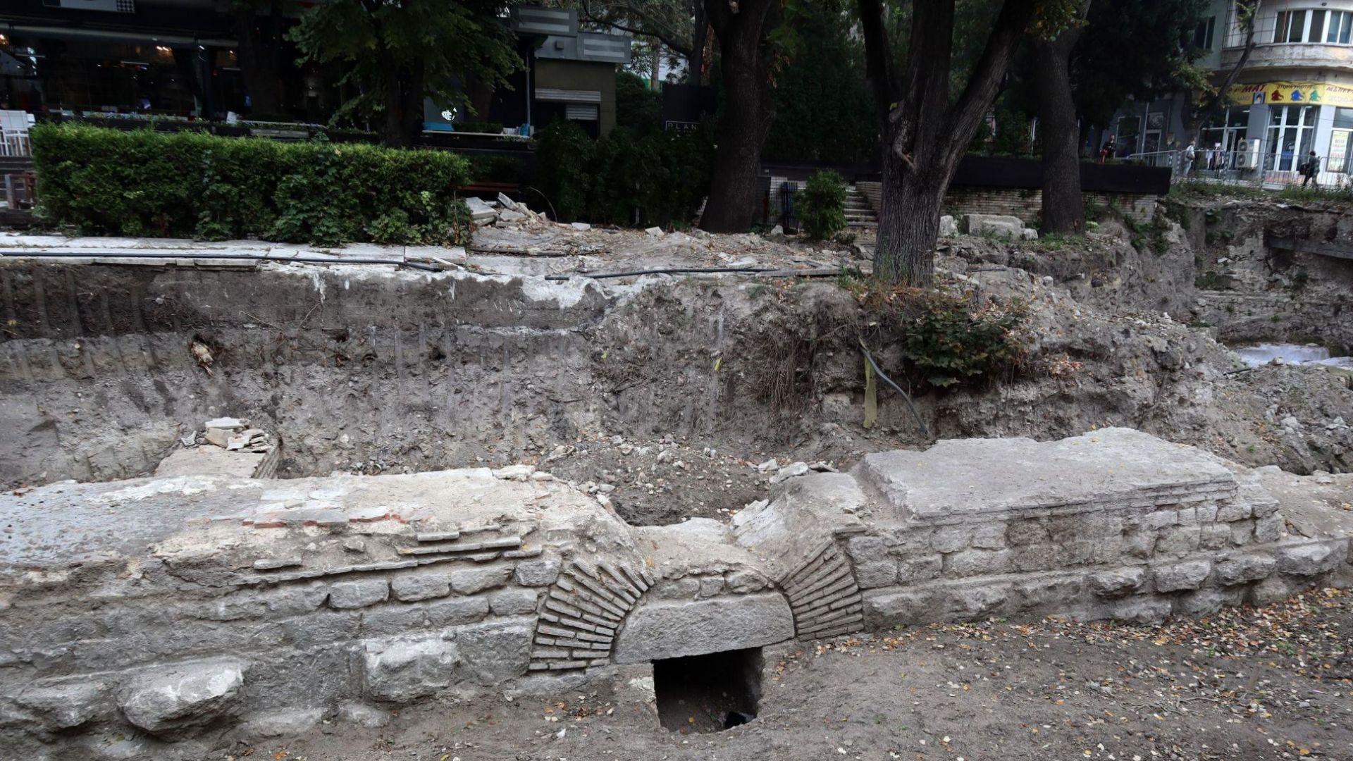 Две дървета спират разкриването на уникален архелогически обект във Варна (снимки)
