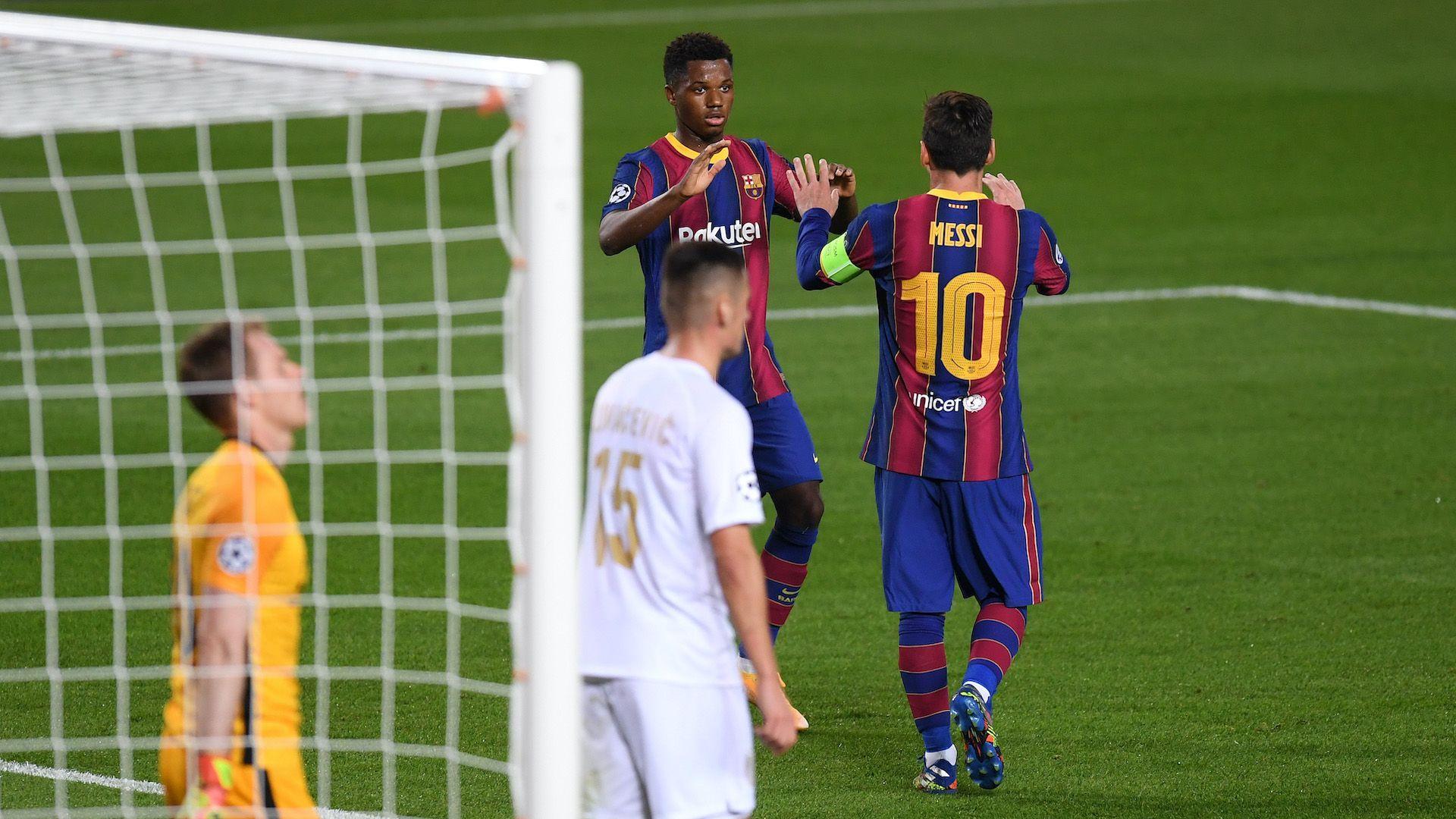 Фантастични Фати и Меси вдъхновиха Барселона (резултати от Шампионската лига)