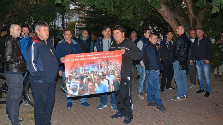Служители от системата на МВР излязоха днес на протест във