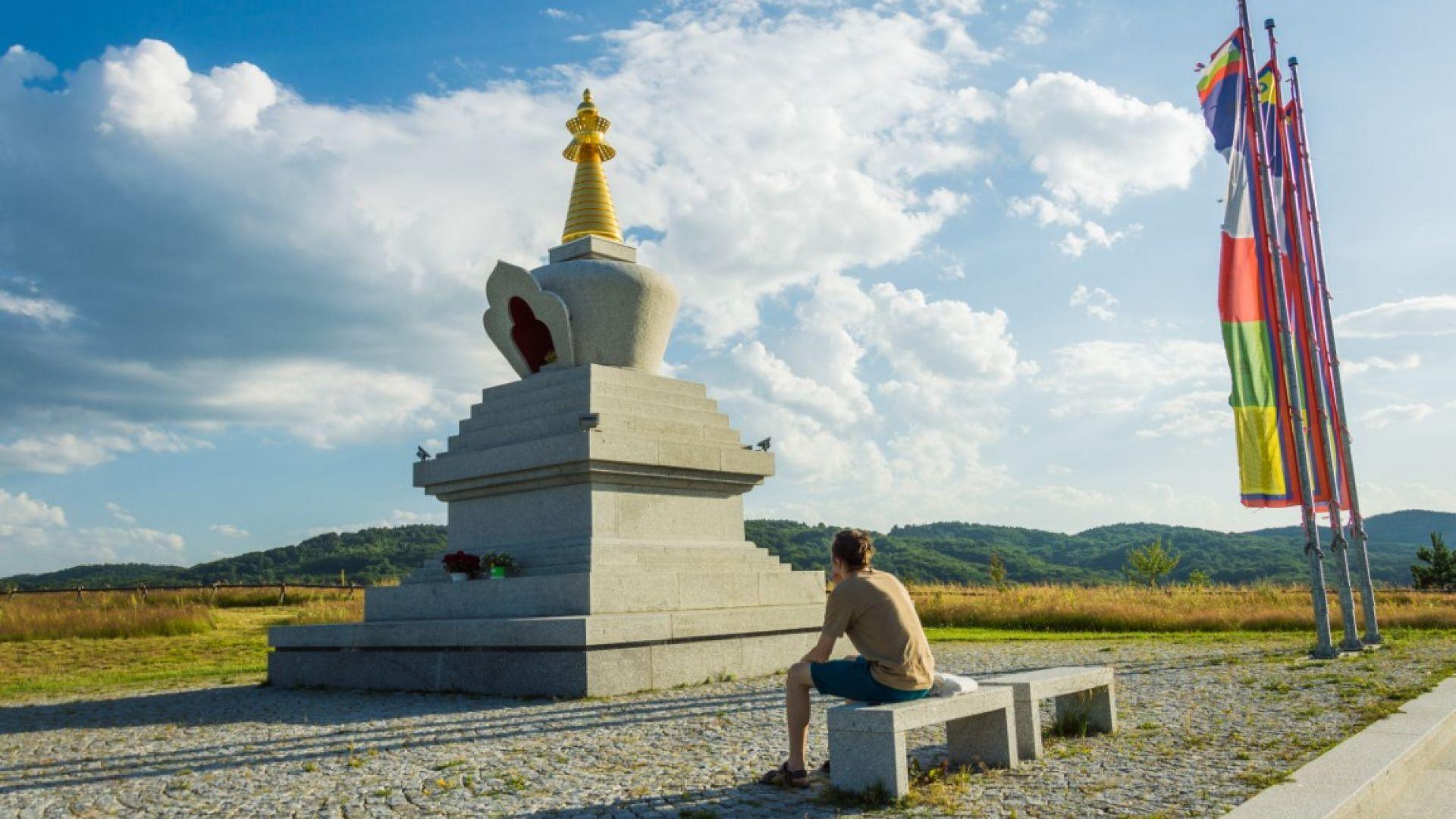 Будистката ступа край село Плана