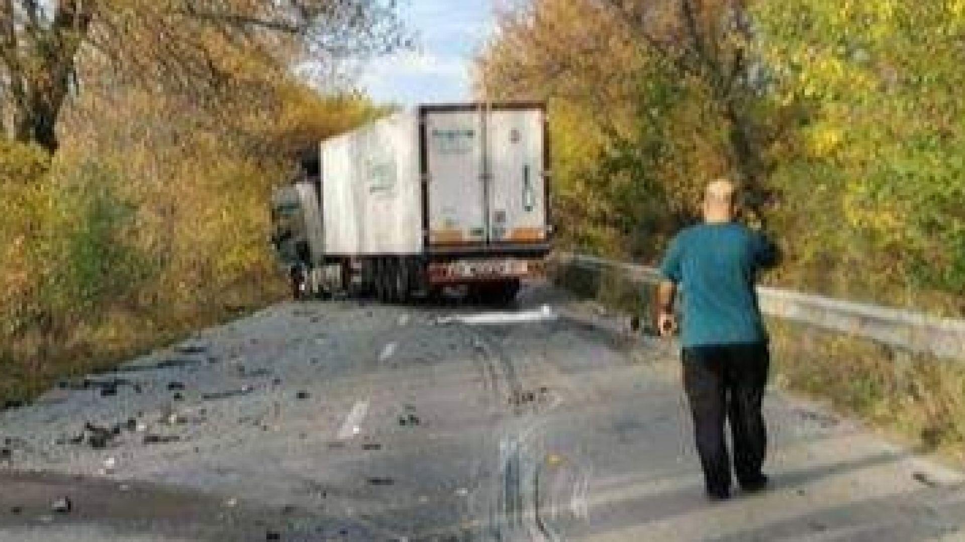 Удар между два тира в Русенско, има ранен