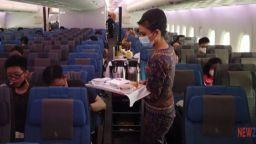Кризисна мярка в Сингапур по време на пандемията - вечеря в приземен самолет