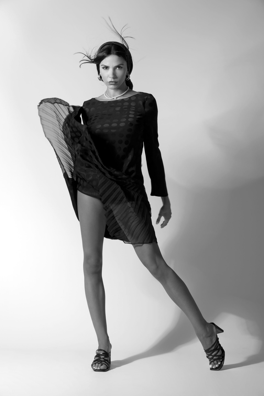 Рокля и шал Karl Lagerfeld от Collective обици Under The Sun