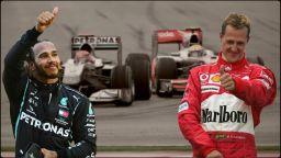 Хамилтън срещу Шумахер: Дуел за величие в цифри и рекорди