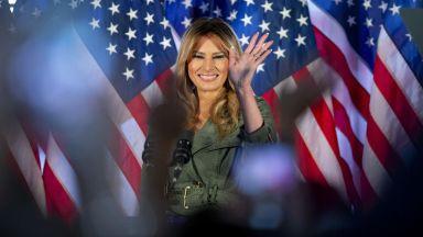 Мелания с първи предизборен митинг: Да задържим Доналд в Белия дом и САЩ  да процъфтява