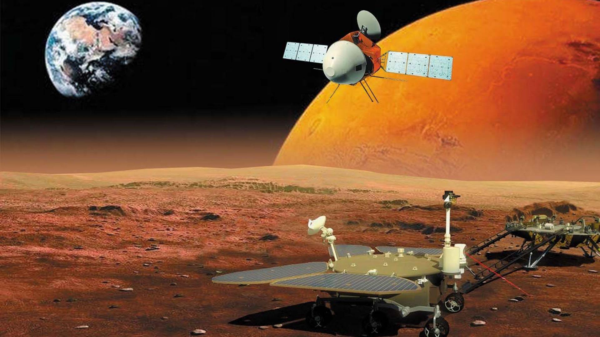 """Китайската сонда """"Тянвън-1"""" преодоля 400 млн. км, ще стигне Марс през февруари"""