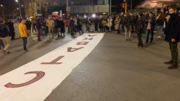 Студенти блокираха кръстовището на СУ с искане за оставка на правителството