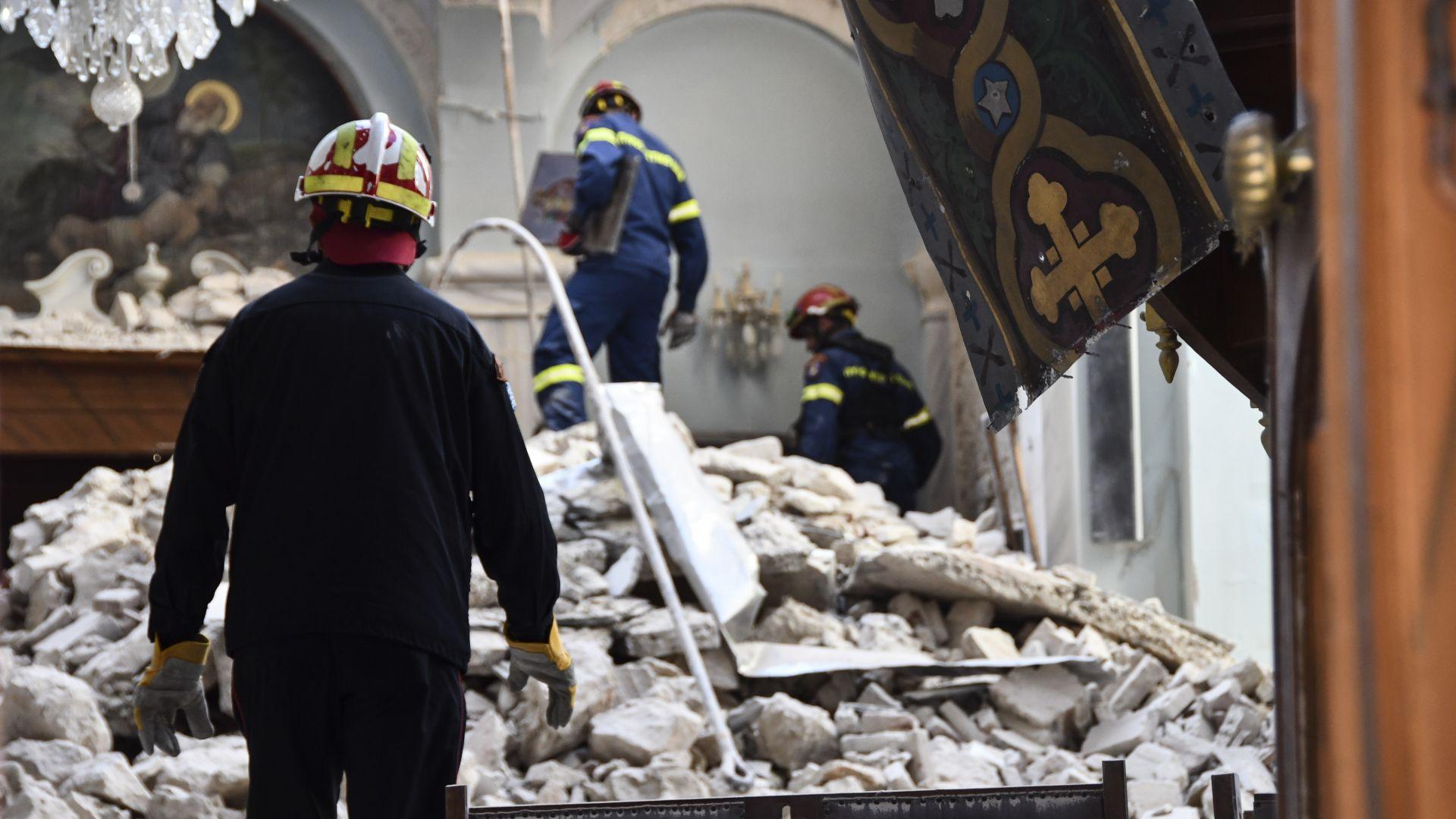 Нов трус на остров Самос, 300 сгради са с опасни поражения
