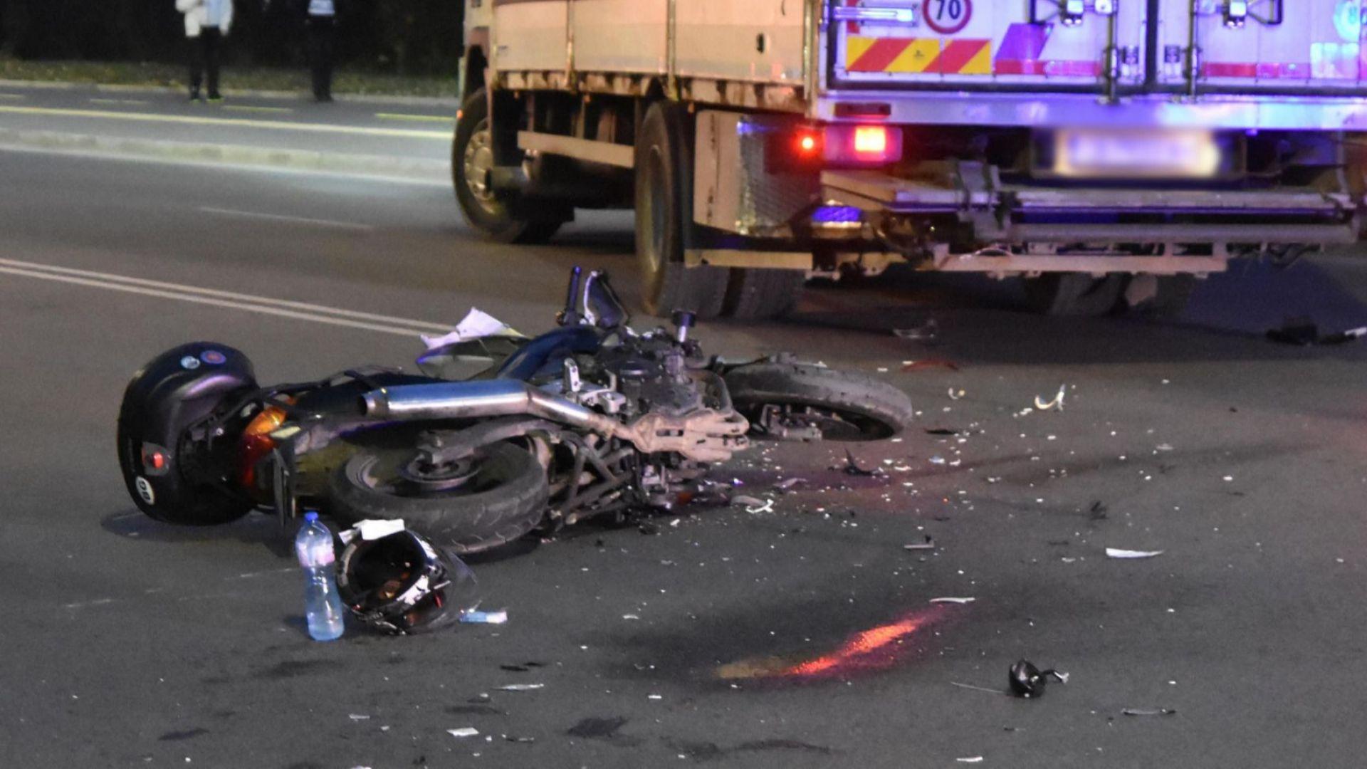 "Тежка катастрофа до базата на ""Ботев Пловдив"", 21-годишен моторист е със сериозни травми в болница"