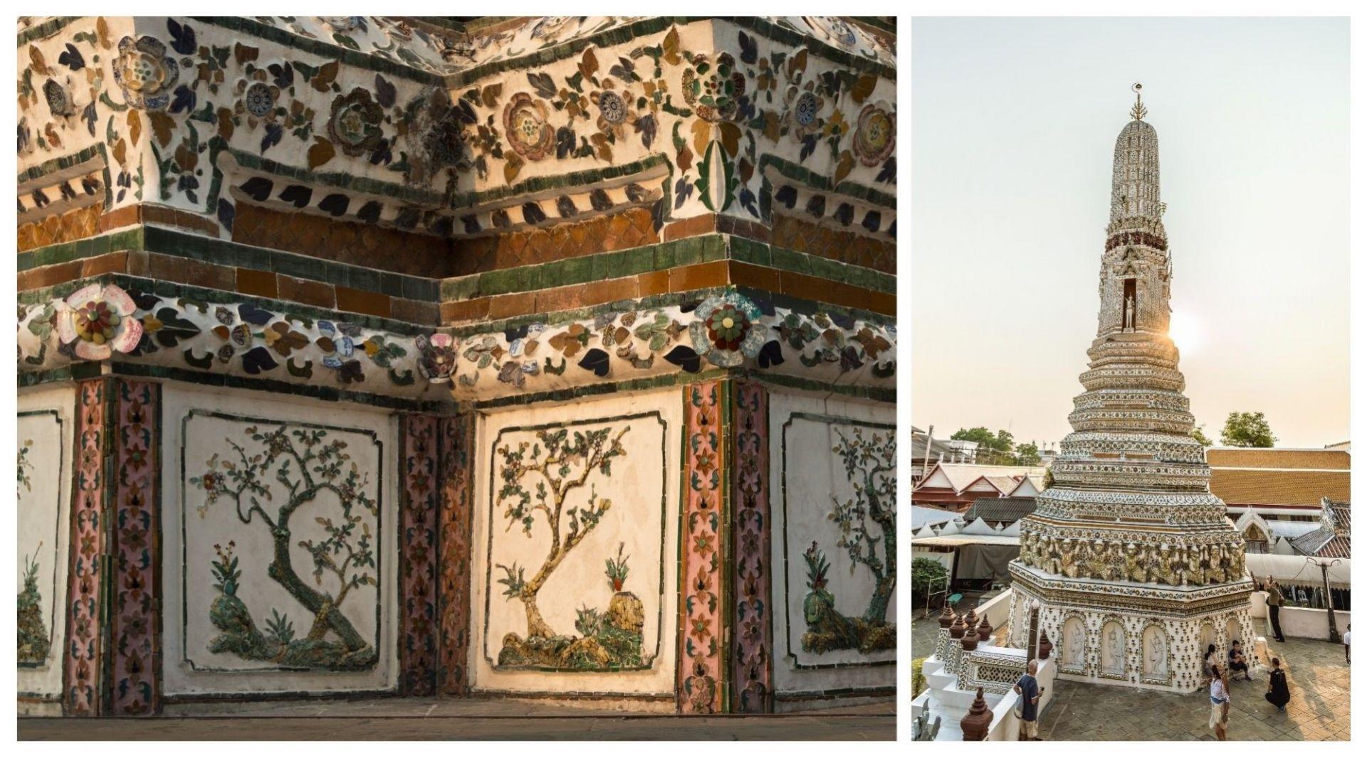 Храмът Уат Арун по залез