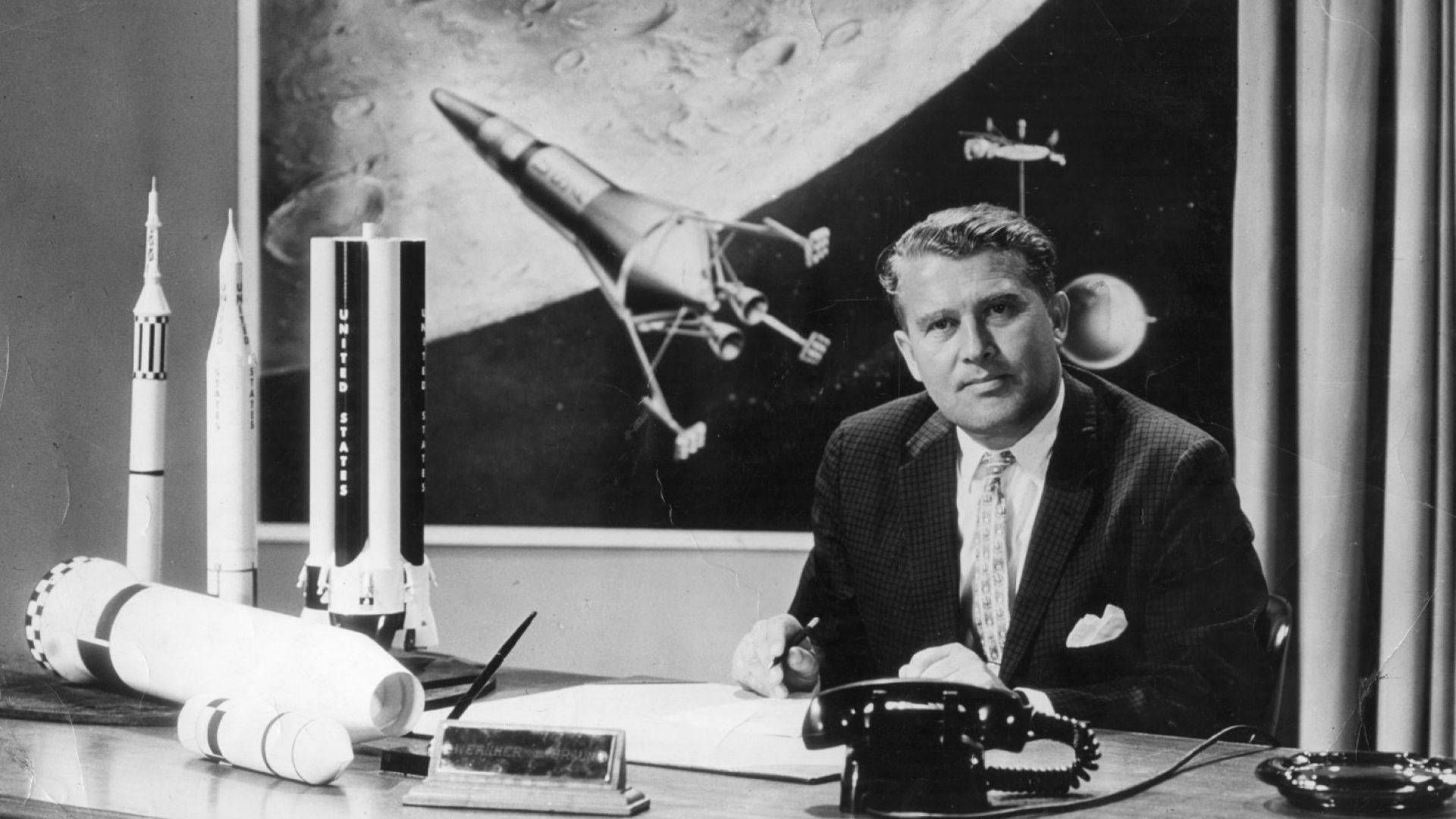 Вернер фон Браун стои зад най-гоемия успех на НАСА - изпращането на хора на Луната