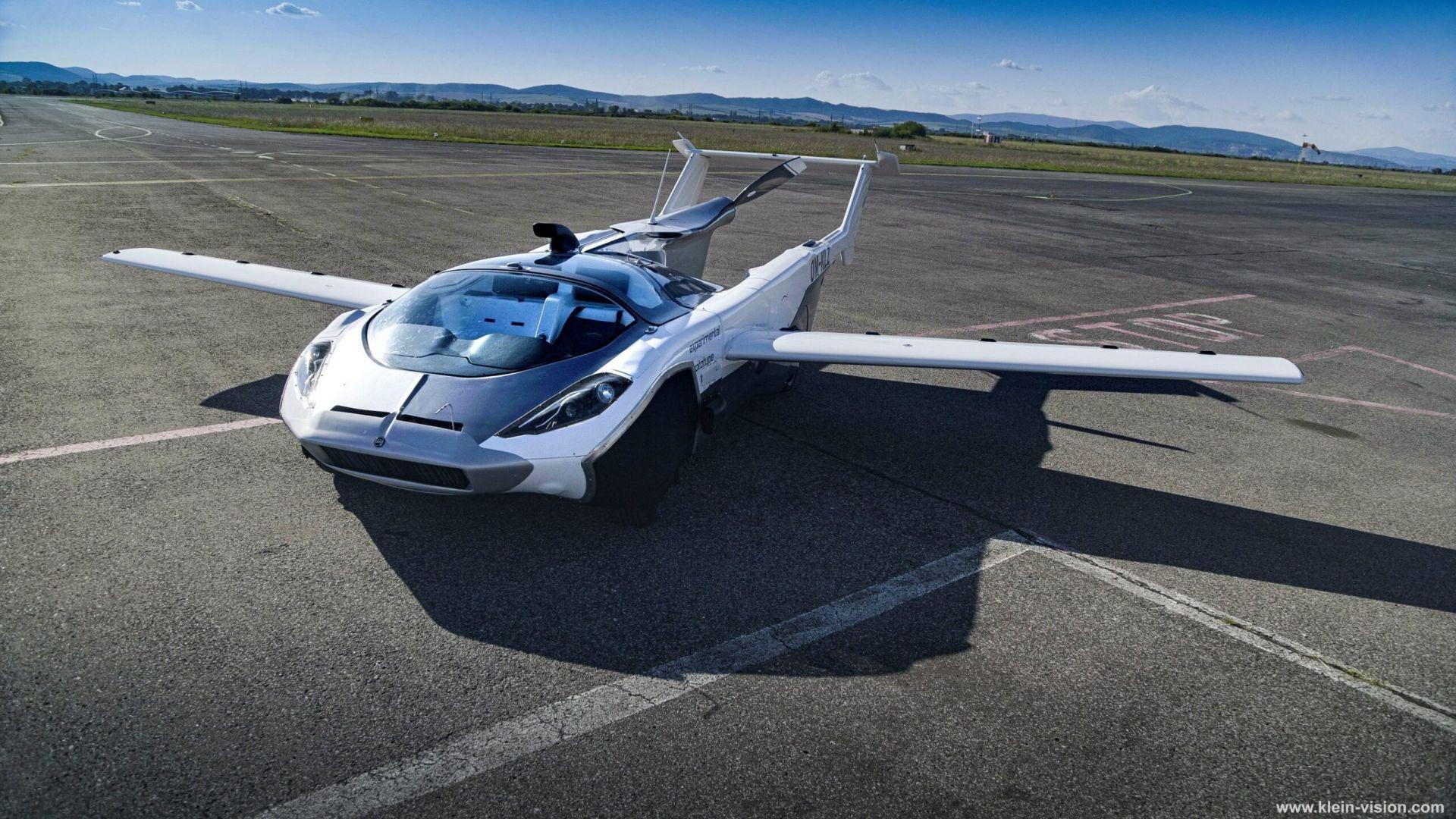 Летящата кола от Словакия направи първия си полет (видео)