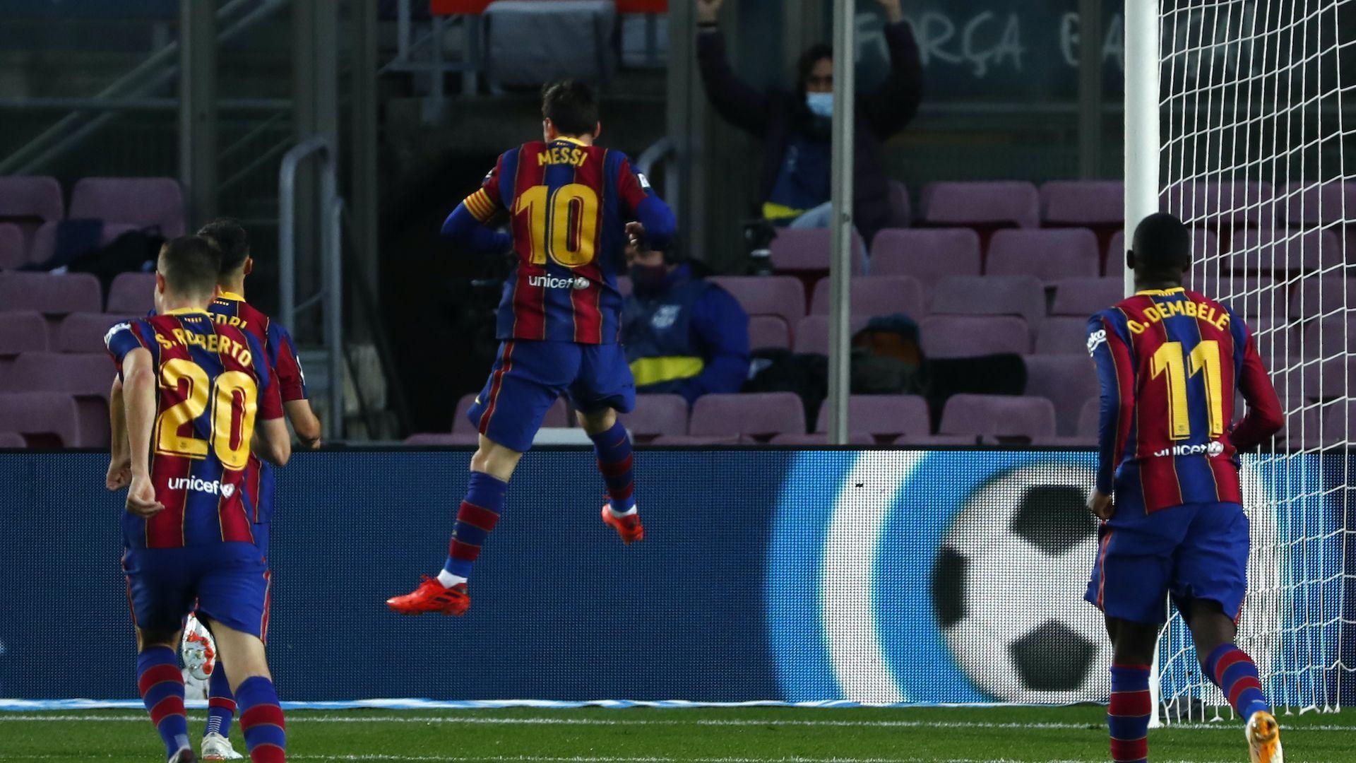 Резервата Меси даде тон на Барселона за разгром срещу Бетис