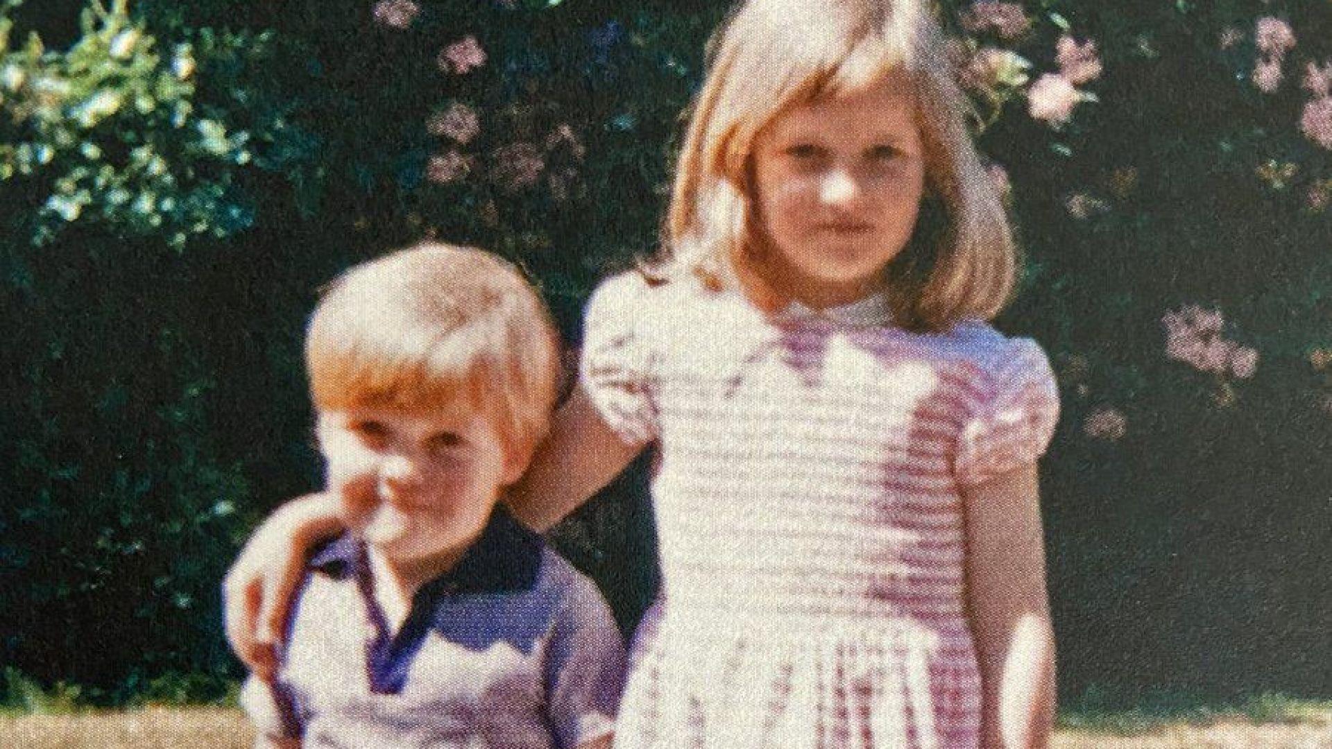 Братът на принцеса Даяна публикува трогателна снимка от детството им