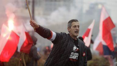 Националисти и десни преминаха през центъра  на Варшава в Марш на независимостта