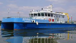 Ниски води на Дунав спря десетки кораби край Белене