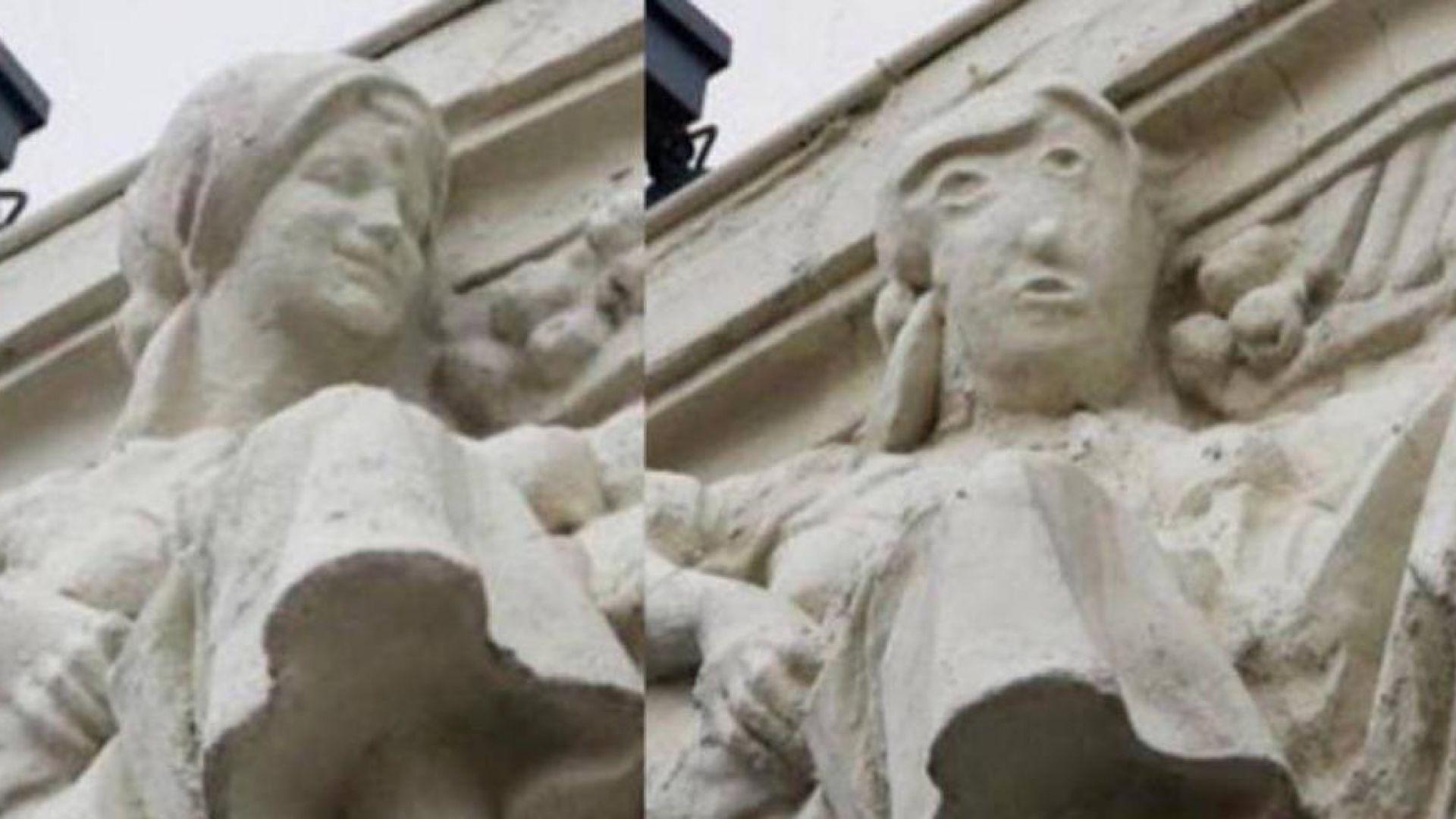 Реставрация на скулптура в Испания предизвика подигравки (видео)