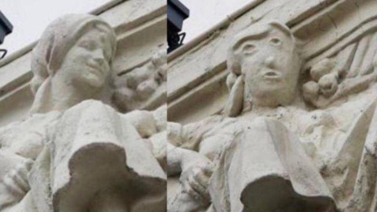 Реставрацията на скулптура в Испания предизвиква насмешка и върна спомена