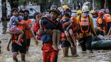 Тайфун взе 11 жертви, а 15 са в неизвестност във Филипините