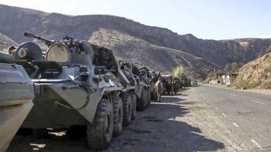 Руските миротворчески сили пристигнаха в столицата на Нагорни Карабах