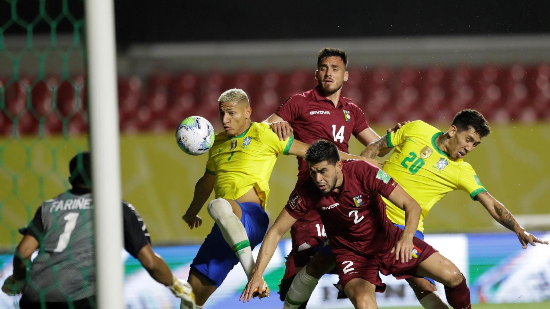 Бразилия остана без Неймар, изнерви се с тестове за Covid-19 и се измъчи на терена